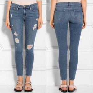 Frame Skinny Jean In Kitty Hawk